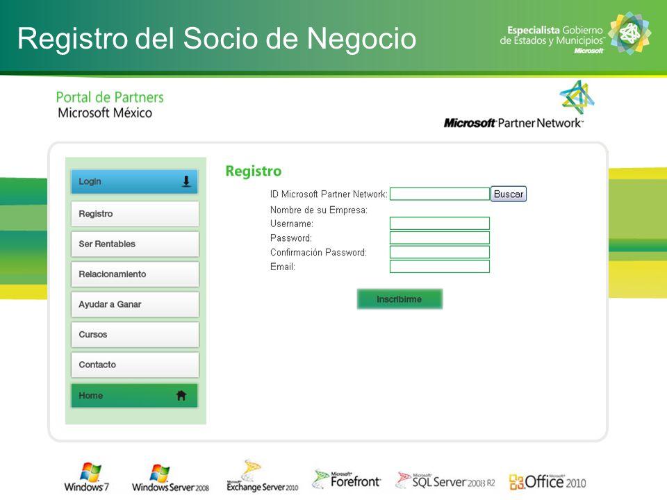 Registro del Socio de Negocio