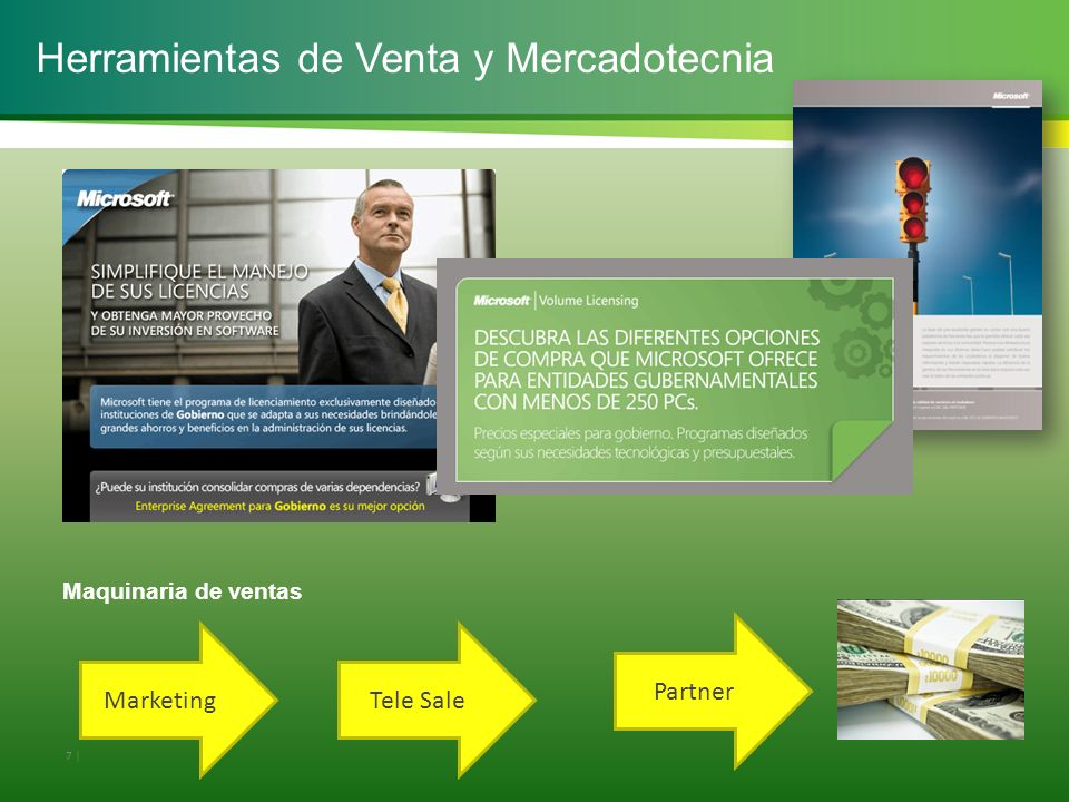 7 | Herramientas de Venta y Mercadotecnia MarketingTele Sale Partner Maquinaria de ventas