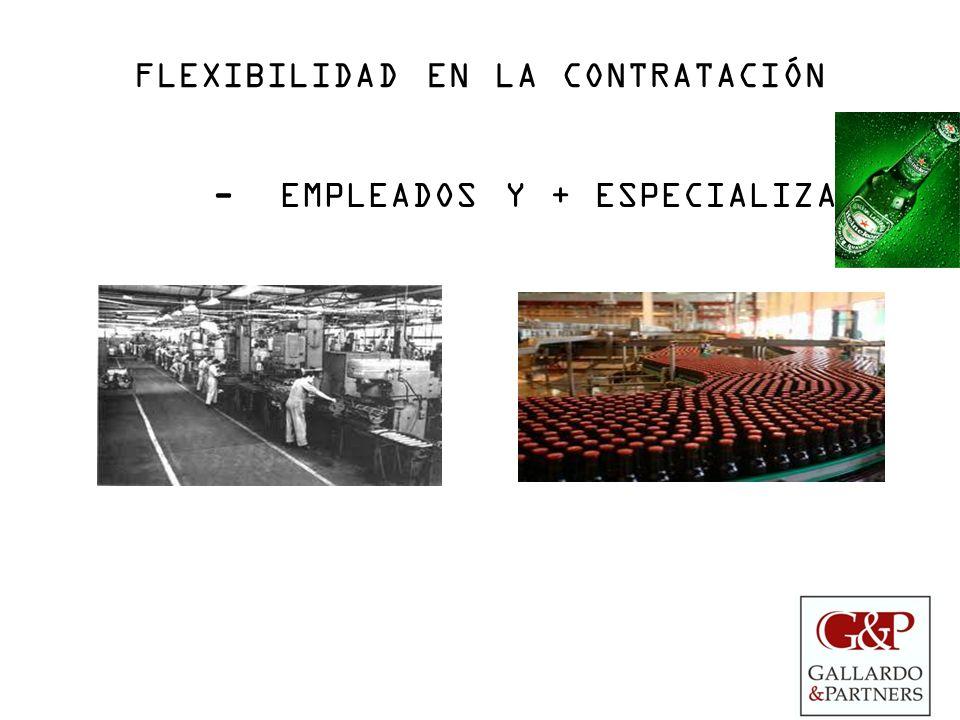 FLEXIBILIDAD EN LA CONTRATACIÓN - EMPLEADOS Y + ESPECIALIZADOS