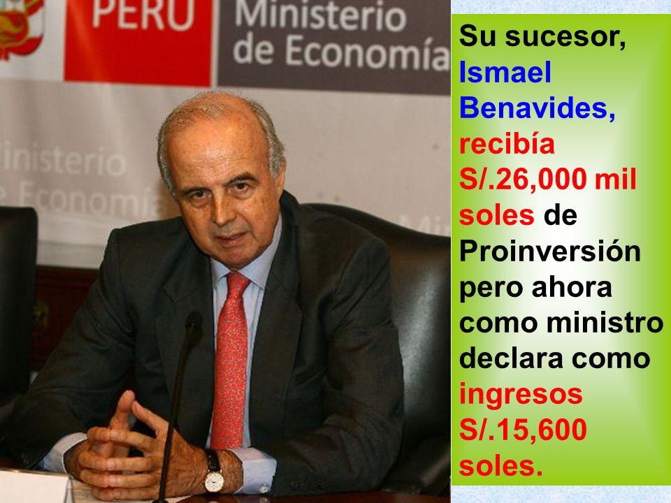 Mercedes Aráoz, quien durante el 2009 cuando era ministra de Economía y Finanzas, percibió S/.24,200 soles cada mes.
