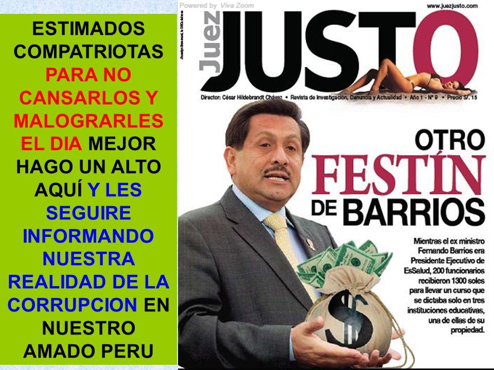 El ministro de Relaciones Exteriores, José Antonio García Belaunde, registra ingresos por S/.20,092 soles.