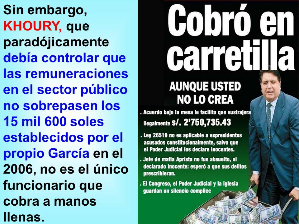 ¿Quién designo al actual Contralor Al parecer el Presidente García.