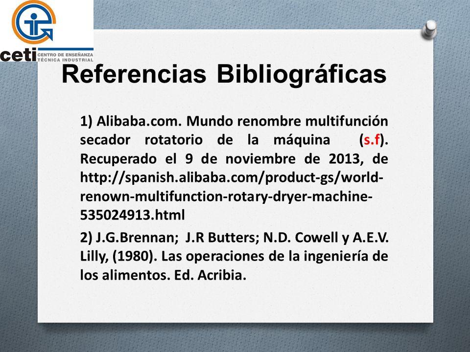 Referencias Bibliográficas 1) Alibaba.com.