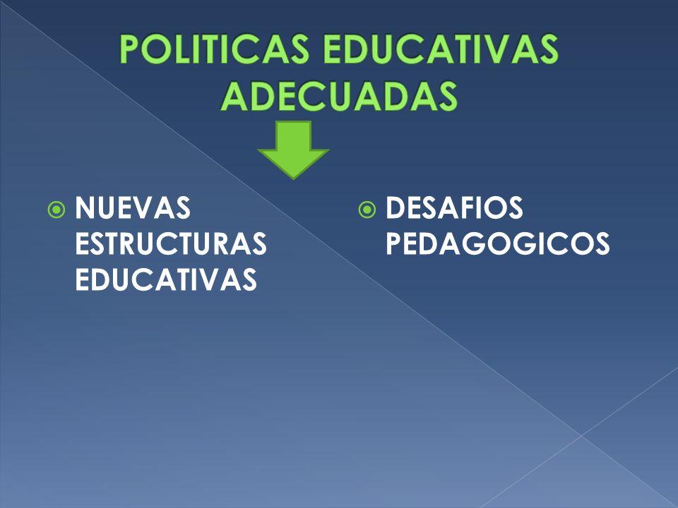 NUEVAS ESTRUCTURAS EDUCATIVAS DESAFIOS PEDAGOGICOS