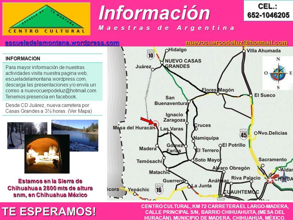 InformaciónINFORMACION Para mayor información de nuestras actividades visita nuestra pagina web, escueladelamontana.wordpress.com, descarga las presentaciones y/o envía un correo a nuevocuerpodeluz@hotmail.com.