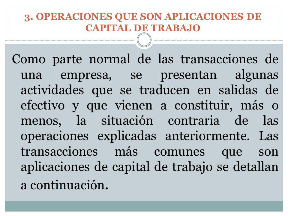 Como parte normal de las transacciones de una empresa, se presentan algunas actividades que se traducen en salidas de efectivo y que vienen a constitu
