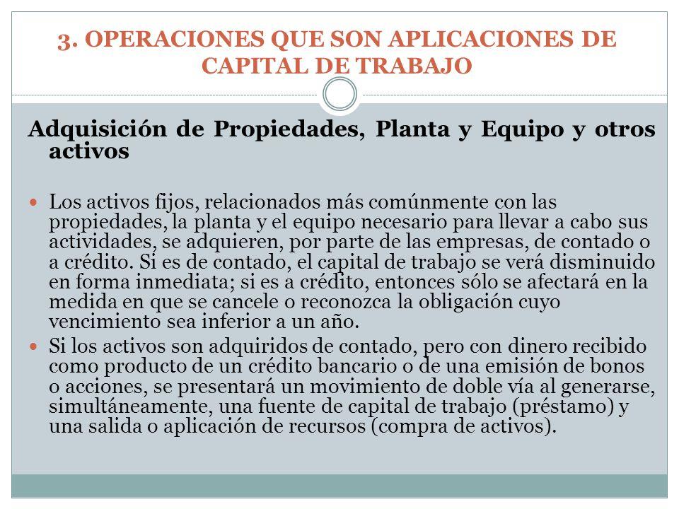 Adquisición de Propiedades, Planta y Equipo y otros activos Los activos fijos, relacionados más comúnmente con las propiedades, la planta y el equipo