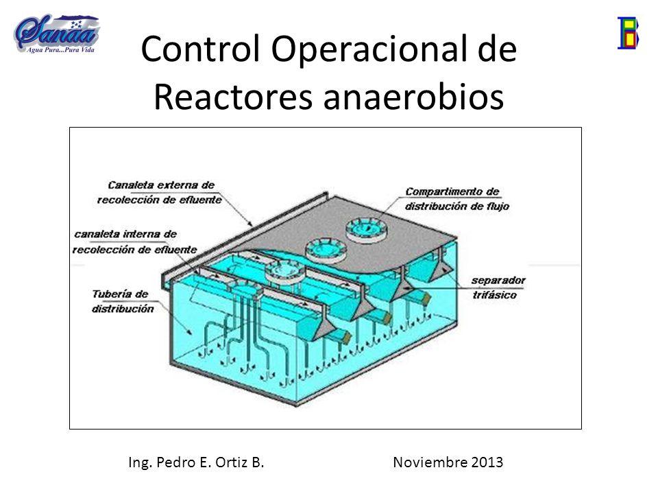 Control Operacional de Reactores anaerobios Ing. Pedro E. Ortiz B. Noviembre 2013