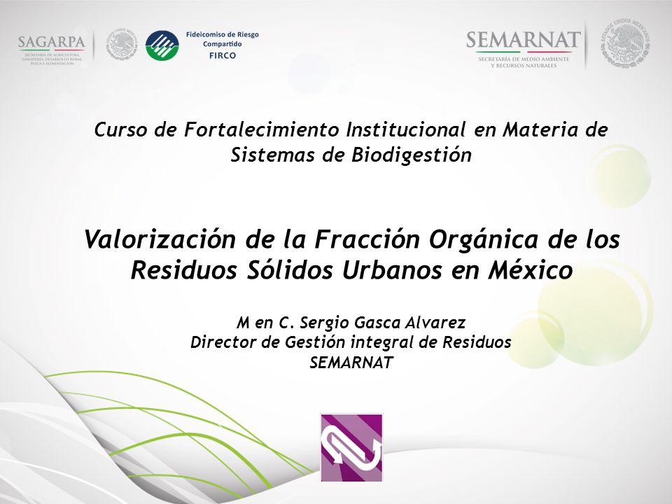 Curso de Fortalecimiento Institucional en Materia de Sistemas de Biodigestión Valorización de la Fracción Orgánica de los Residuos Sólidos Urbanos en