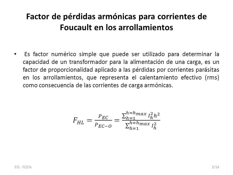 Factor de pérdidas armónicas para corrientes de Foucault en los arrollamientos EIE - FCEIA5/14