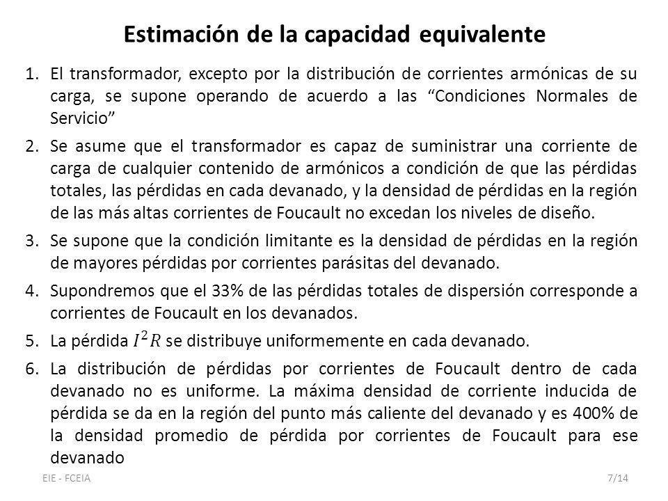 Estimación de la capacidad equivalente EIE - FCEIA7/14