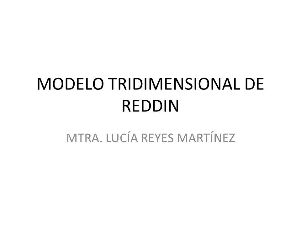 MODELO TRIDIMENSIONAL DE REDDIN MTRA. LUCÍA REYES MARTÍNEZ
