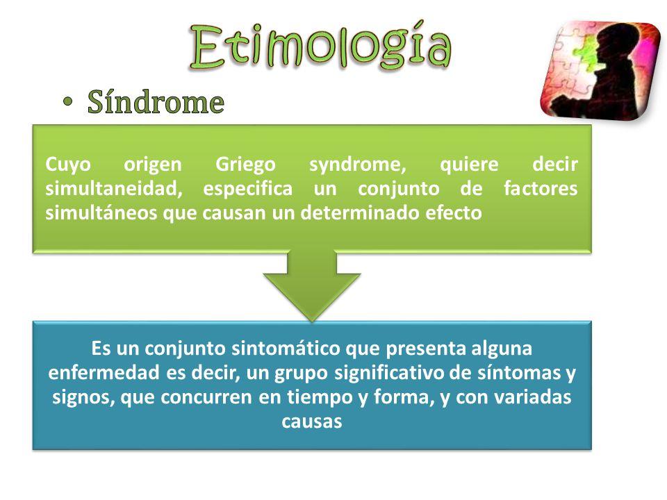Es un conjunto sintomático que presenta alguna enfermedad es decir, un grupo significativo de síntomas y signos, que concurren en tiempo y forma, y co