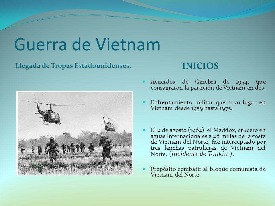 Guerra de Vietnam Llegada de Tropas Estadounidenses.