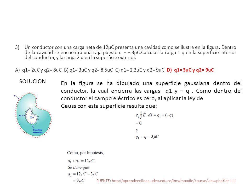 4) Determinar el valor del potencial eléctrico creado por una carga puntual q 1 =12 x 10 -9 C en un punto ubicado a 10 cm.