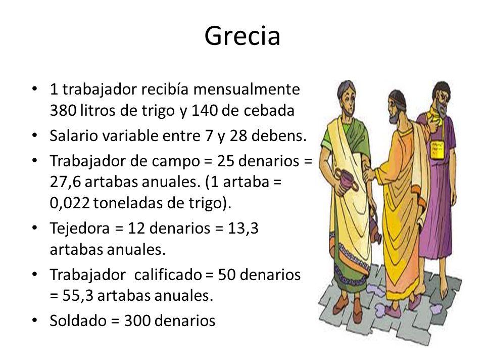 Egipto Los trabajos en la construcción de tumbas, se hacían a cambio de pan, tejidos, aceite y trigo en gran cantidad.