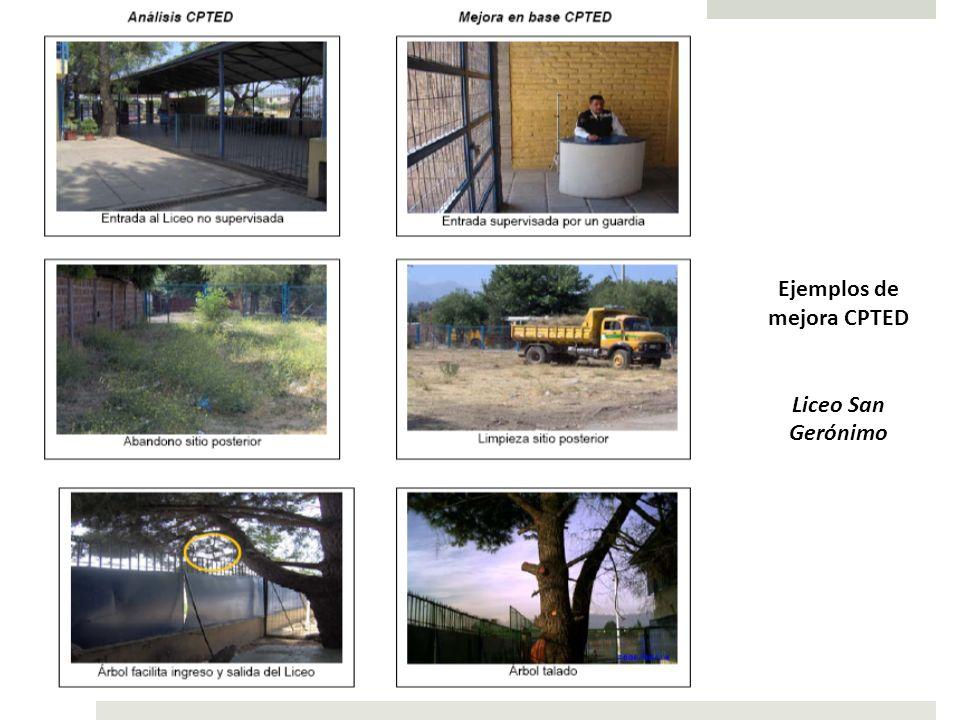 Ejemplos de mejora CPTED Liceo San Gerónimo