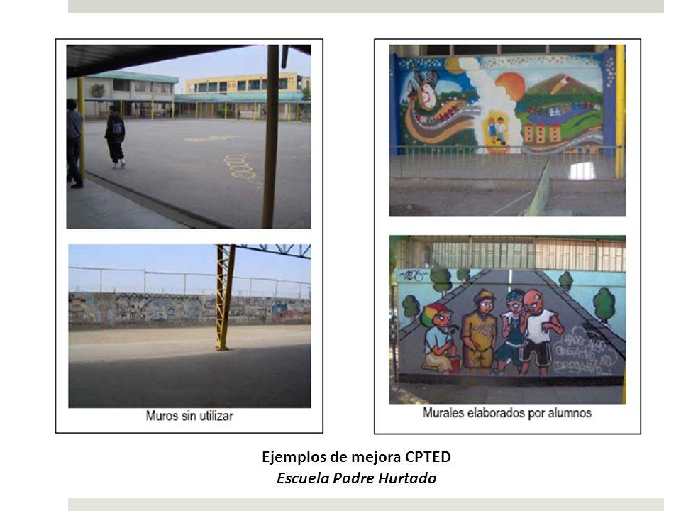 ANTESDESPUÉS Ejemplos de mejora CPTED Escuela Padre Hurtado