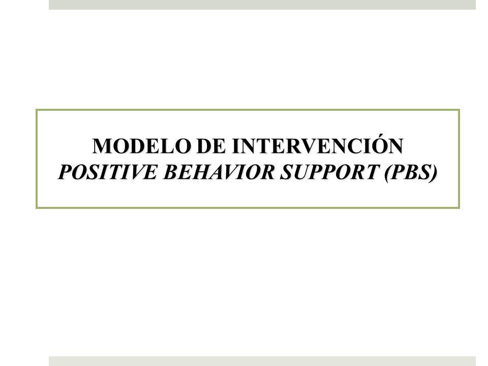 MODELO DE INTERVENCIÓN POSITIVE BEHAVIOR SUPPORT (PBS)