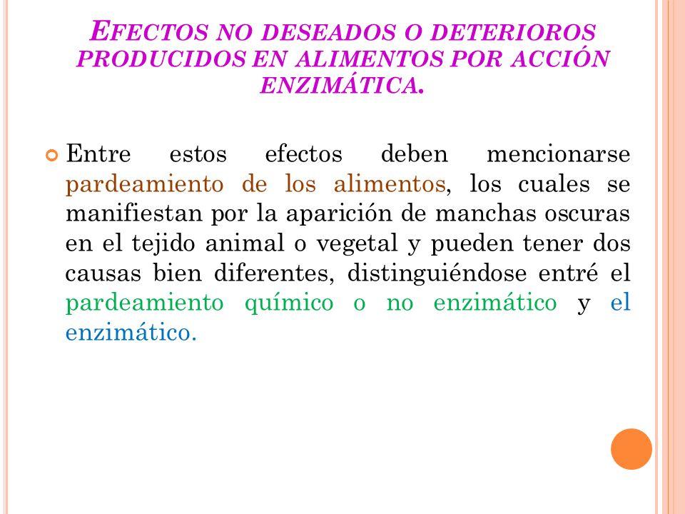 ENZIMAS DE ALIMENTOS QUE DESTRUYEN NUTRIENTES.