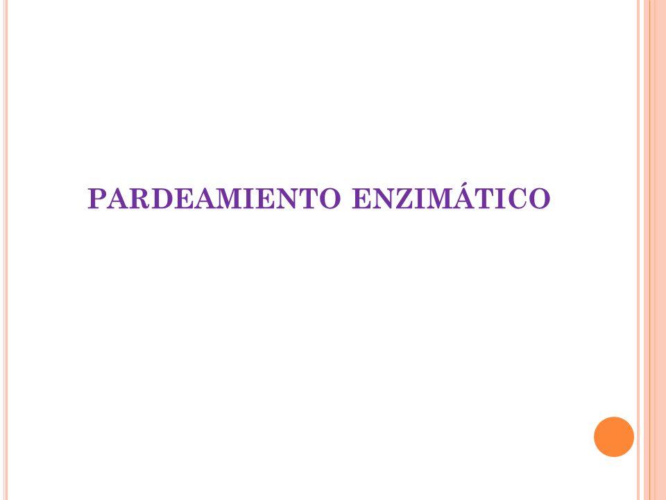E FECTOS NO DESEADOS O DETERIOROS PRODUCIDOS EN ALIMENTOS POR ACCIÓN ENZIMÁTICA.