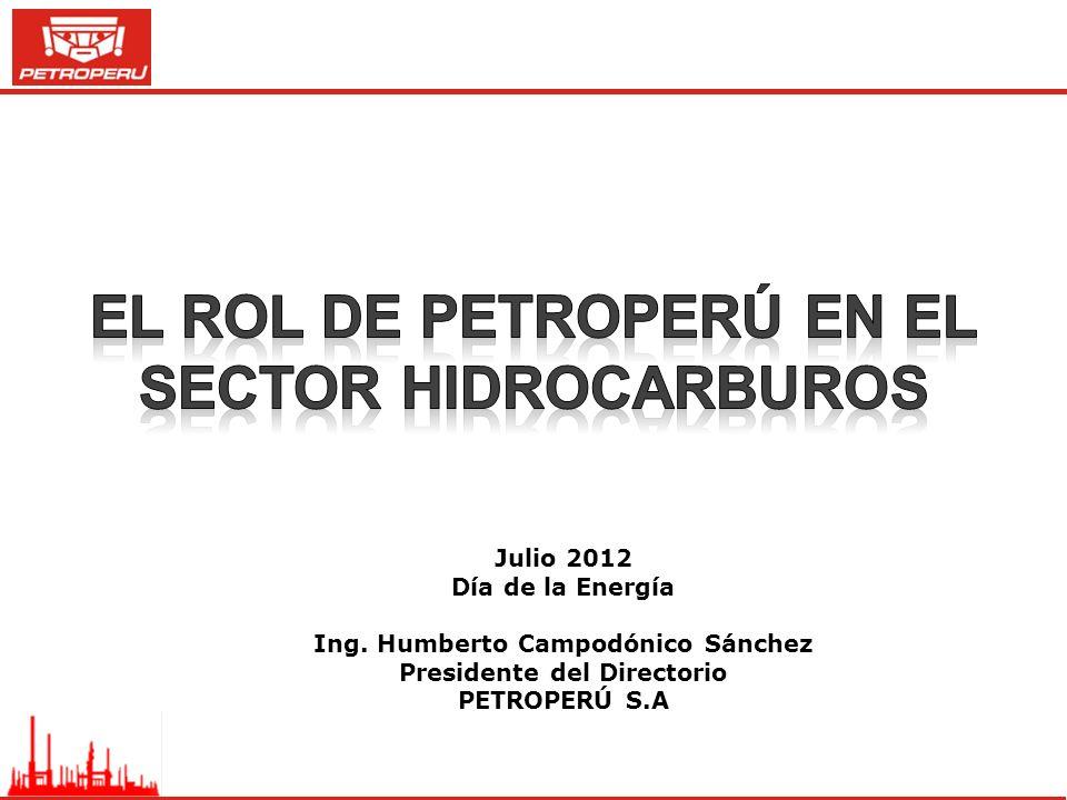 Julio 2012 Día de la Energía Ing. Humberto Campodónico Sánchez Presidente del Directorio PETROPERÚ S.A