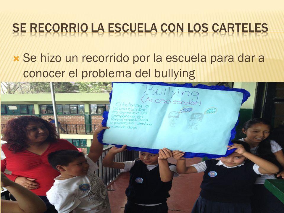 Se hizo un recorrido por la escuela para dar a conocer el problema del bullying