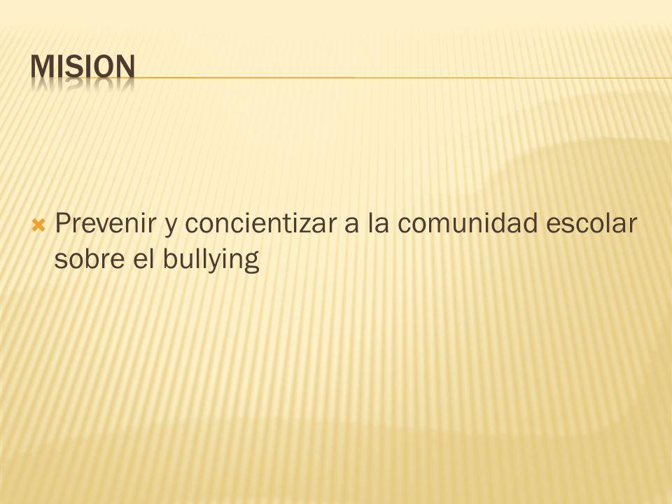 Prevenir y concientizar a la comunidad escolar sobre el bullying