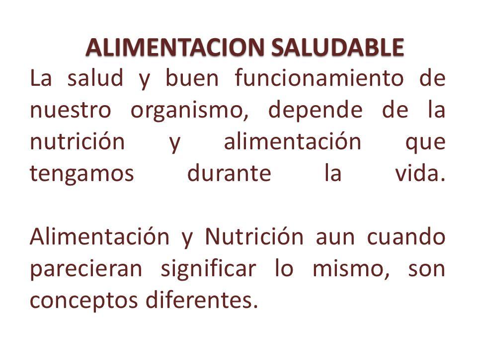 La salud y buen funcionamiento de nuestro organismo, depende de la nutrición y alimentación que tengamos durante la vida. Alimentación y Nutrición aun
