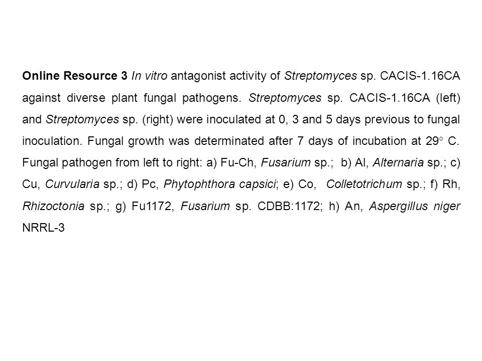 Online Resource 3 In vitro antagonist activity of Streptomyces sp.