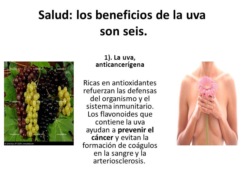 Salud: los beneficios de la uva son seis.1).