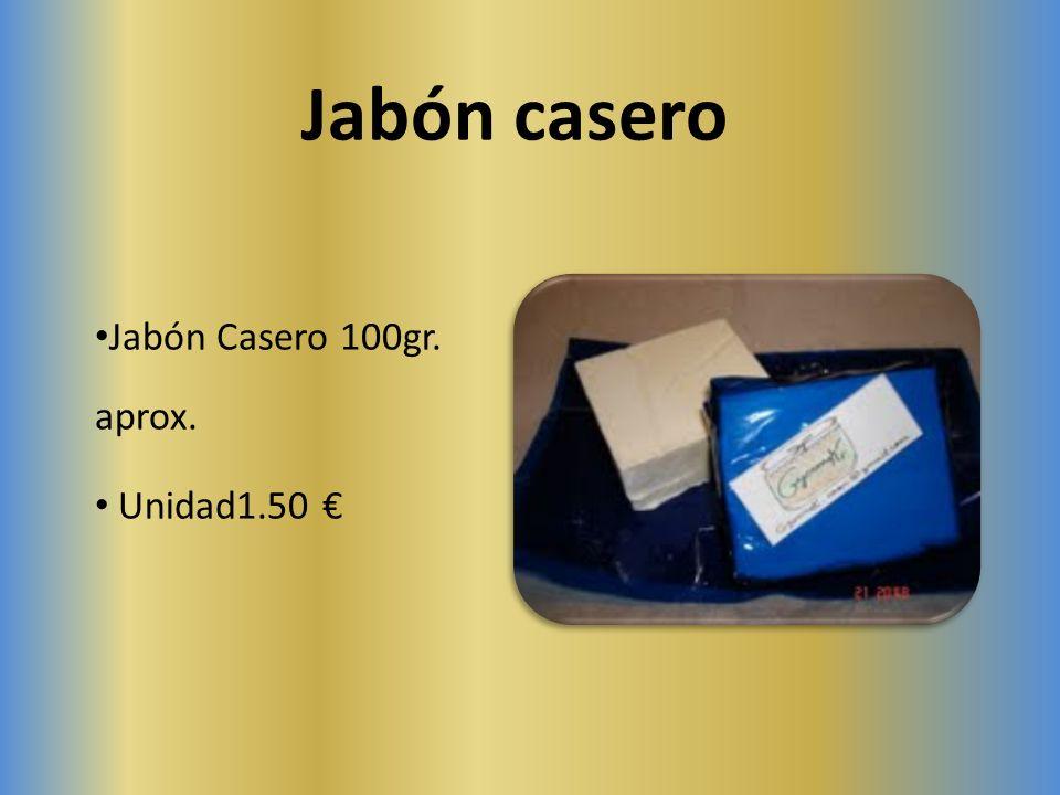 Jabón casero Jabón Casero 100gr. aprox. Unidad1.50