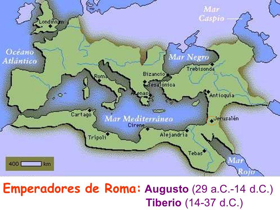 Emperadores de Roma: Augusto (29 a.C.-14 d.C.) Tiberio (14-37 d.C.)
