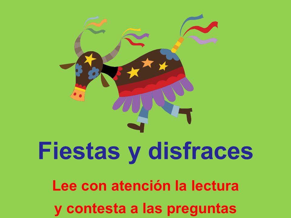 APRENDA Fiestas y disfraces 2009 Quinín Freire LECTURA 5 COMPRENSIÓN de LECTURA