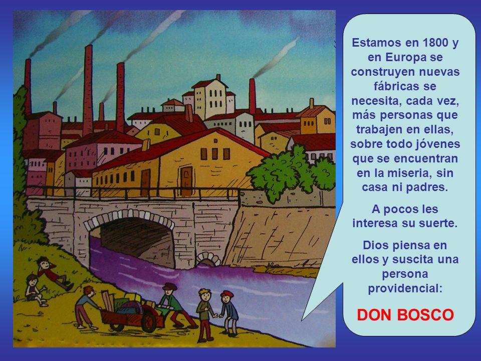 Estamos en 1800 y en Europa se construyen nuevas fábricas se necesita, cada vez, más personas que trabajen en ellas, sobre todo jóvenes que se encuentran en la miseria, sin casa ni padres.