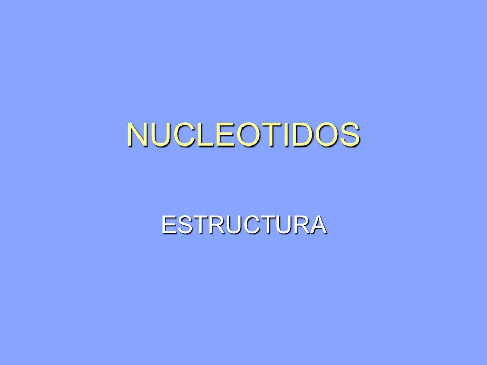 NUCLEOTIDOS Nucleosidos contienen dos tipos de azucares unidos a un nitrogeno anular Nucleosidos contienen dos tipos de azucares unidos a un nitrogeno anular 1.