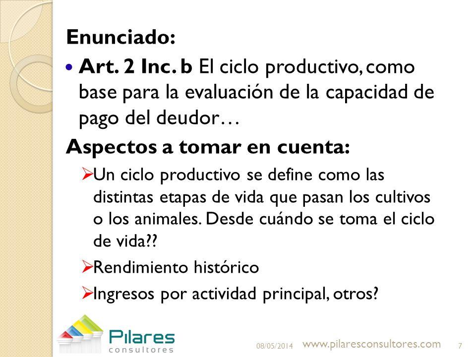 Enunciado: Art.2 Inc.