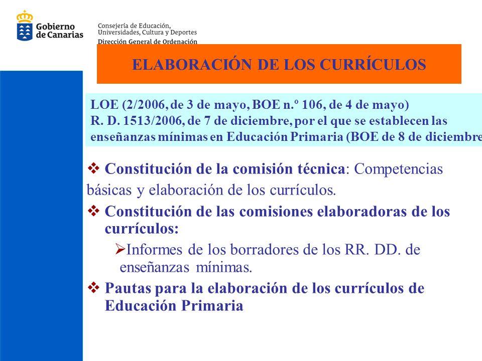 Debate y publicación Publicación para su debate, en la web de la Consejería de Educación, Cultura y Deportes (31 de enero de 2007).