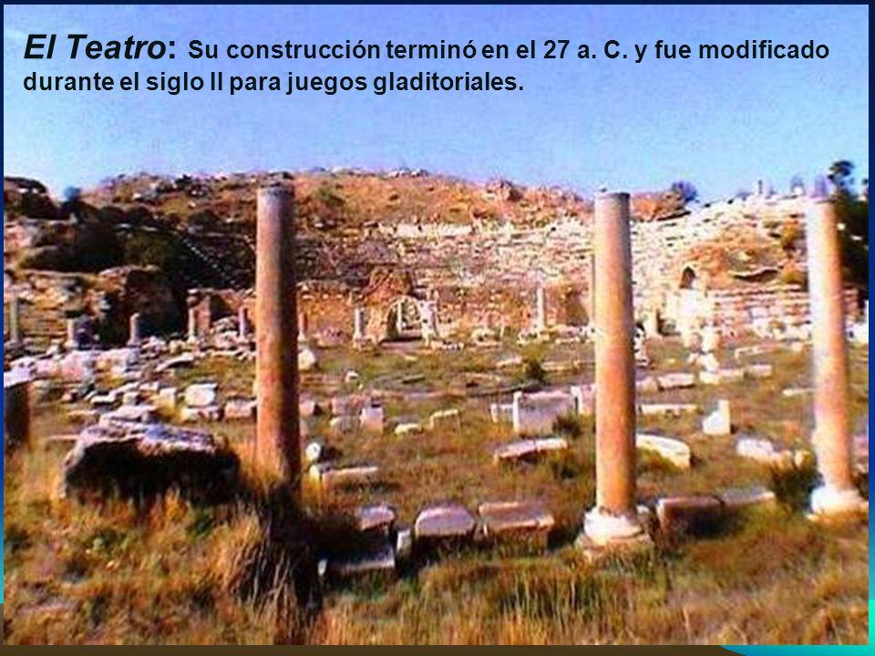 Las Termas de Adriano: Termas construí- das durante el reinado del empera- dor Adriano en el siglo II.