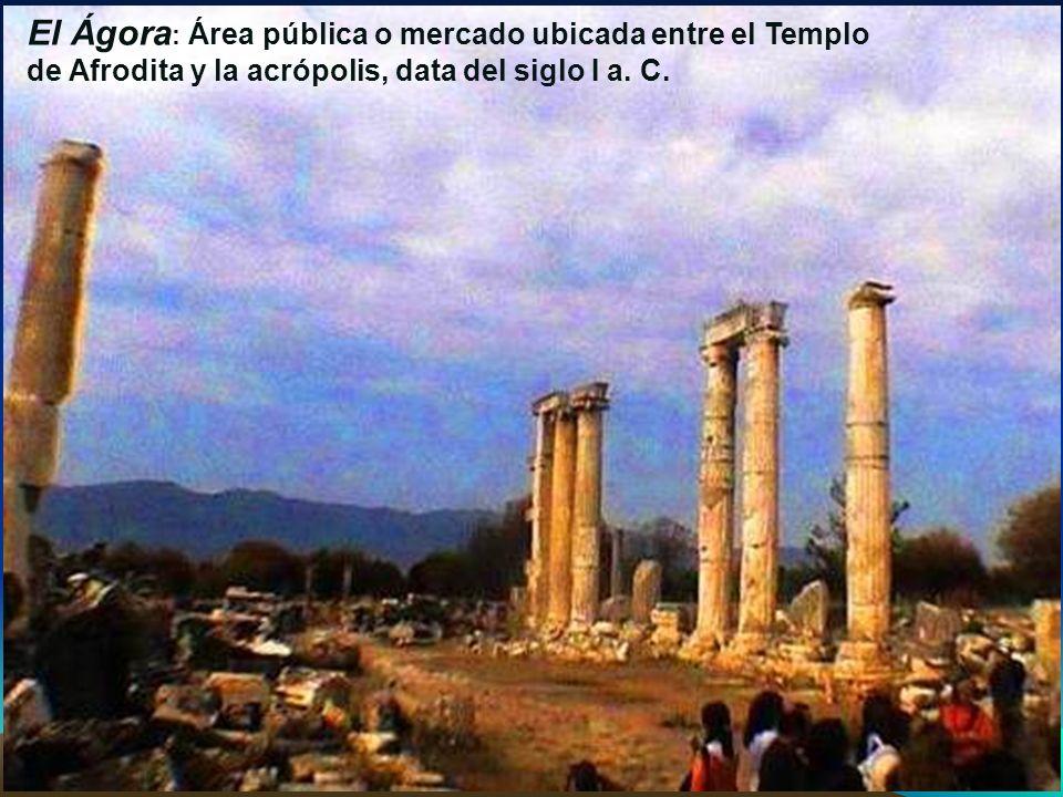El templo de Afrodita es y sigue siendo el punto principal del lugar, pero el carácter del edificio se alteró cuando se convirtió en una basílica cristiana.