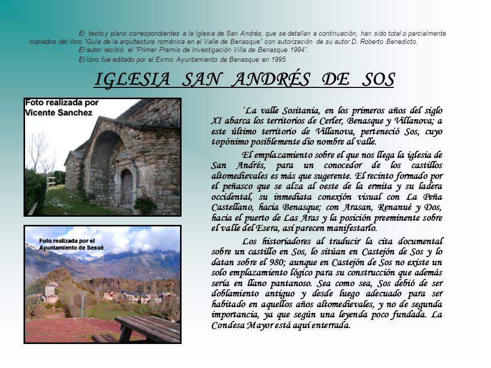 El texto y plano correspondientes a la Iglesia de San Andrés, que se detallan a continuación, han sido total o parcialmente copiados del libro Guía de
