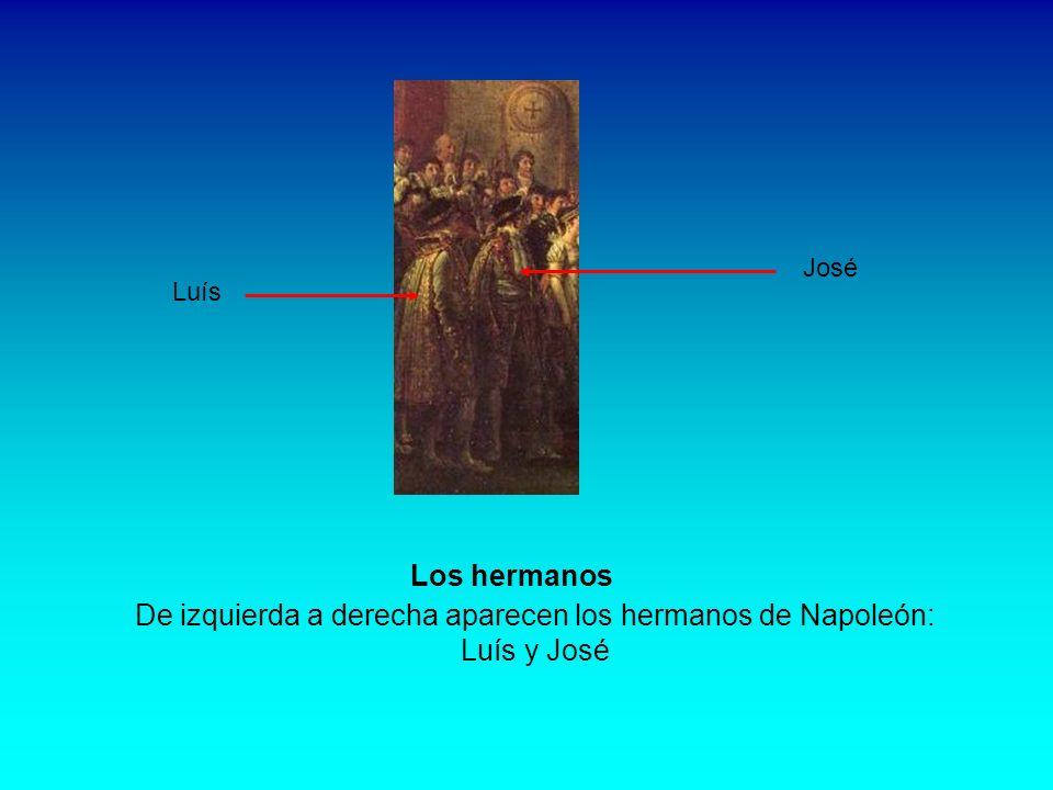 Figura en lugar preeminente María Letizia Ramolino, madre del emperador quien, en realidad, no asistió a la ceremonia. Pero, ¿cómo no iba a quedar rep