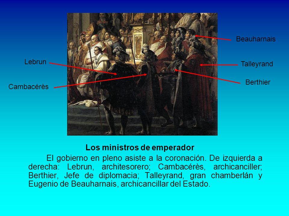 Los mariscales del Imperio Están representados d´Harville (con la almohadilla de la corona), Murat, Moncey, Bessière y Soults D´Harville Murat Moncey