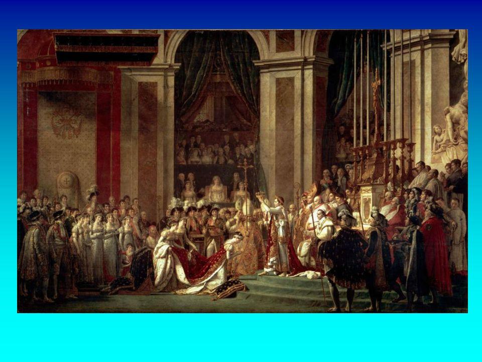 La coronación de Napoleón es una obra de Jacques-Louis David, la cual fue la gran obra de su carrera, pintor oficial de Napoleón Bonaparte realizada e