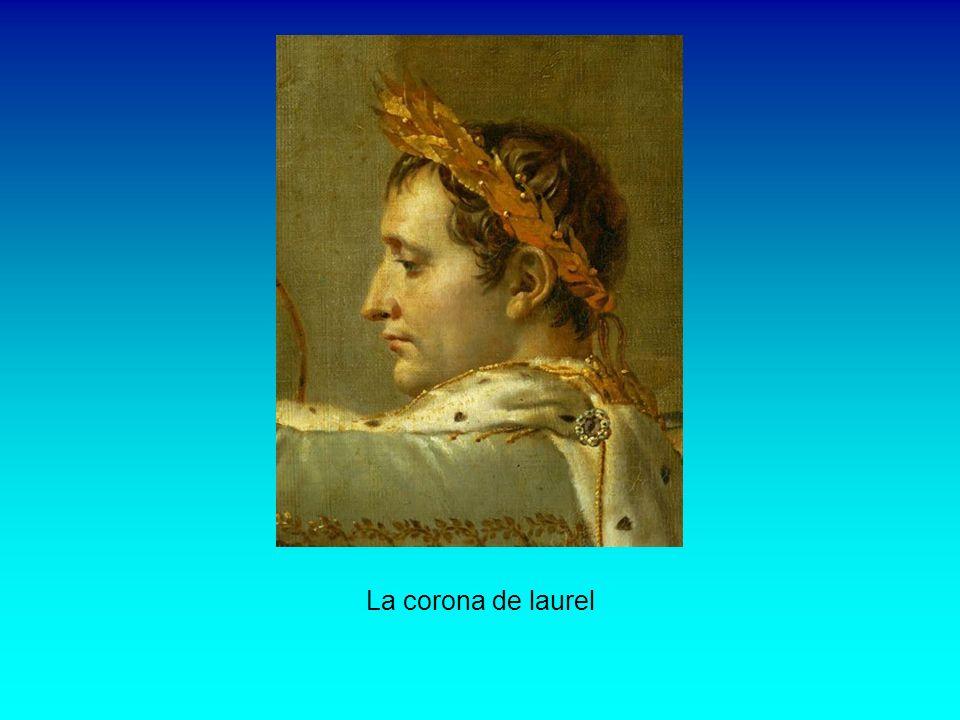 Napoleón Napoleón tocado con una corona de laurel y cubierto con el manto púrpura imperial, se dispone a colocar la corona a su esposa.