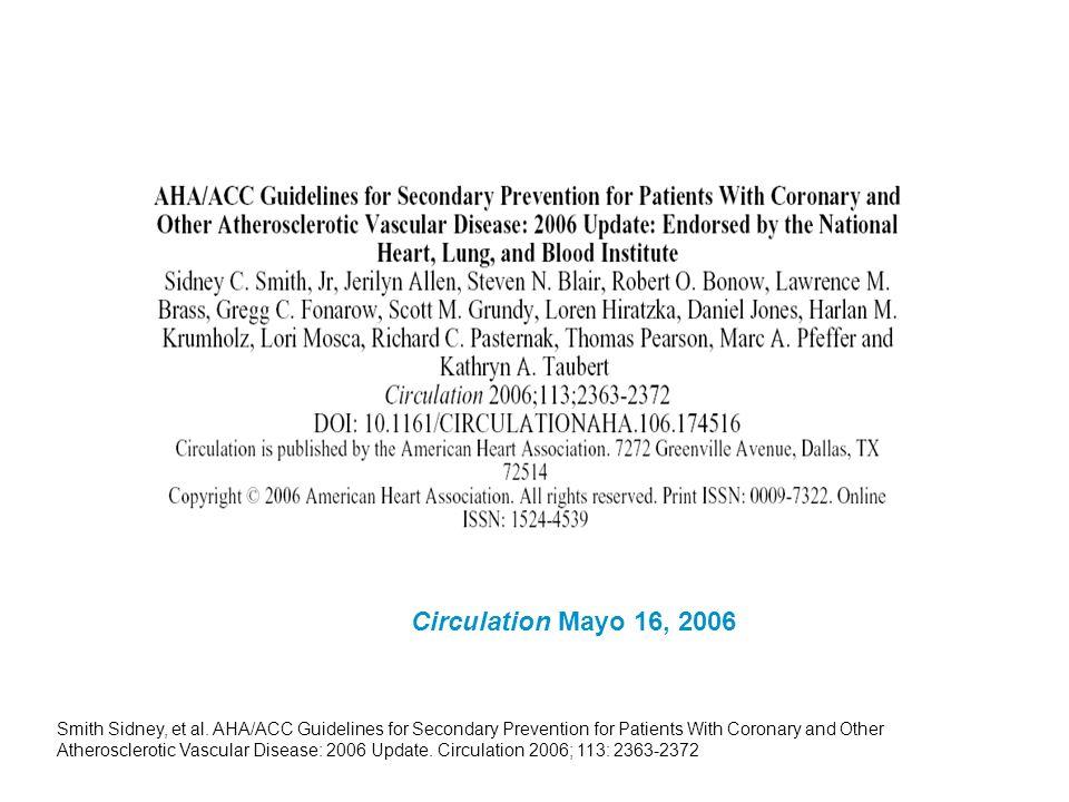 Circulation Mayo 16, 2006 Smith Sidney, et al.