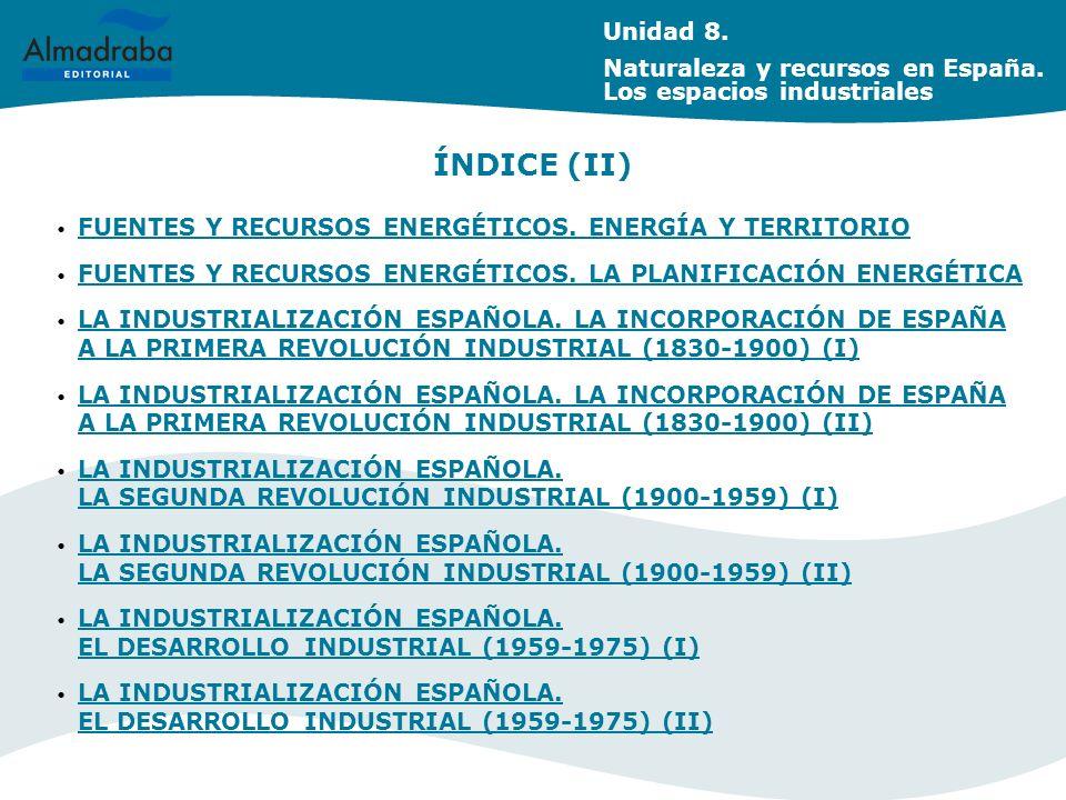 FUENTES Y RECURSOS ENERGÉTICOS.ENERGÍA Y TERRITORIO FUENTES Y RECURSOS ENERGÉTICOS.
