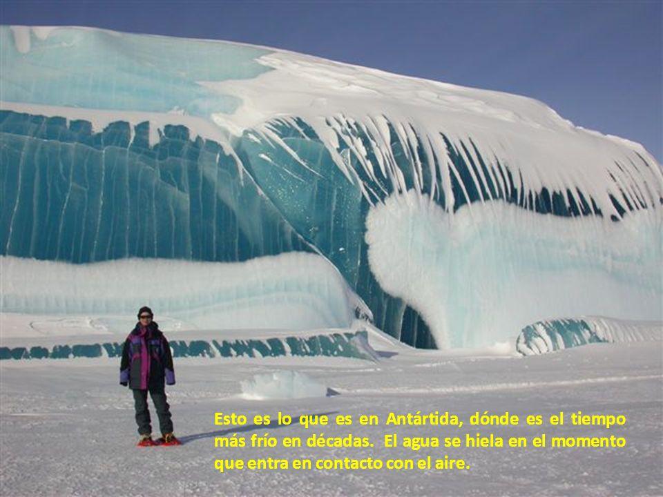 ¡Antártida, la Ola Helada Pixs - la Naturaleza es asombrosa! El agua se heló en el momento que la ola rompió a través del el hielo.