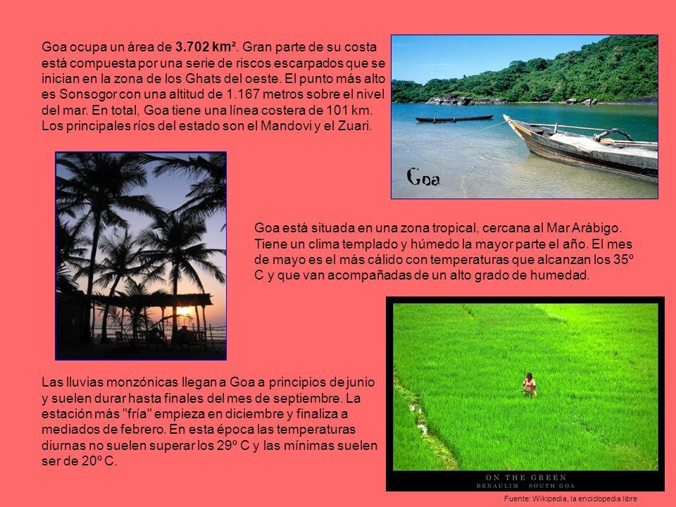 Las lluvias monzónicas llegan a Goa a principios de junio y suelen durar hasta finales del mes de septiembre.