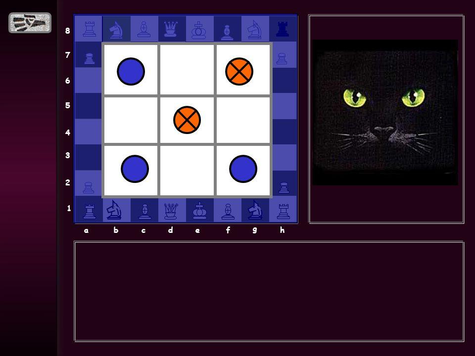 8 7 6 5 4 3 2 1 abcdef g h EMPATE 1 Si eres buen jugador debes de empatar 4 veces.